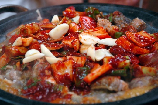 Kkomjangeo bokkeum ( ), Korean stir-fried fish dish made with the hagfish Eptatretus burgeri