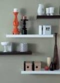 Black and White Floating Shelf