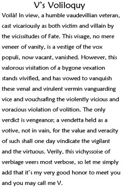 Word of the Day - Voliloquy