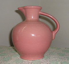 Rose Carafe--I own this carafe in Seamist, and it is my favorite piece.