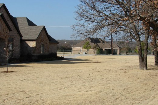 Rural road in Argyle, TX.