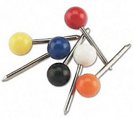 Mark your maps or cubicle walls with classic push pins.