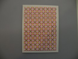 The patterned paper I chose was yellow, green, pink, and white