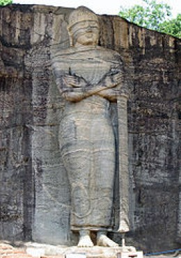Standing Statue of Lord Buddha in Gal Viharaya Polonnaruwa