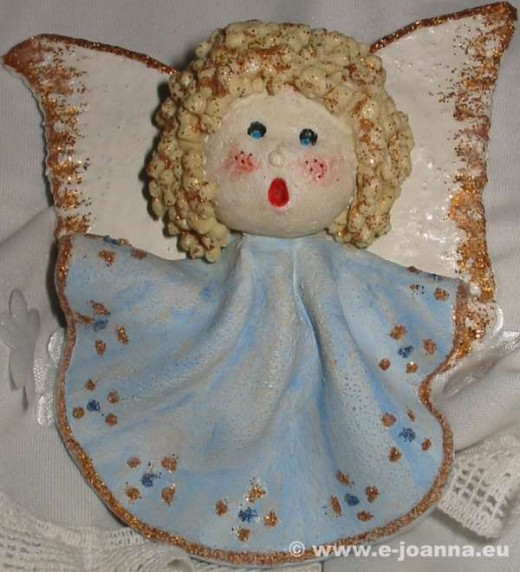 Angel made with salt mass