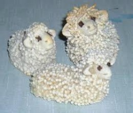 Sheeps made with salt mass