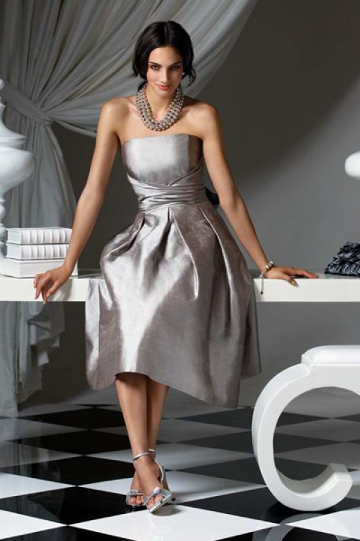 *Taffeta Tea Length Dress for $78.00.
