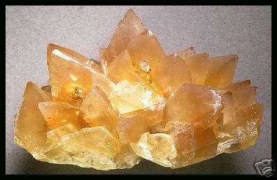 Calcite with a trigonal crystal shape