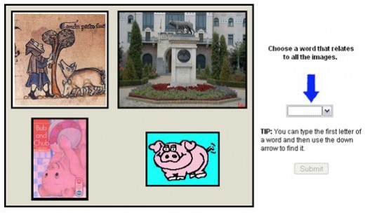 Captcha for the visual type. Also, an IQ test question.