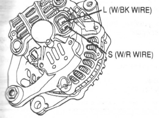 Back of a Mitsubishi Alternator