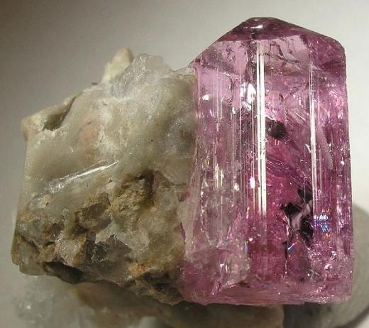 A pink topaz