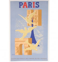 Paris poster Cross Stitch Pattern