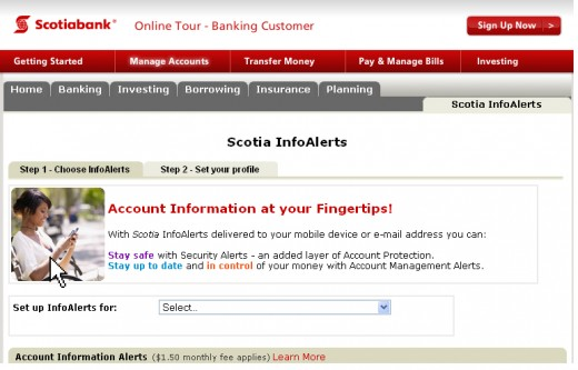 Scotia Info alerts