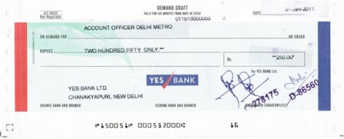 bank draft template - hdfc bank demand draft sample you can download on the site