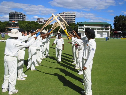Muttiah Muralitharan has single-handedly won many matches for Sri Lanka by his extraordinary bowling abilities. 'Guard of honour' given to Muttiah Muralitharan by his teammates at Harare.