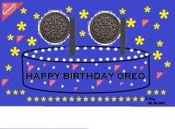 Oreo Cookies:  Happy Birthday