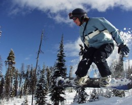 A helmet is one essential item when skiing or snowboarding, particularly off-piste