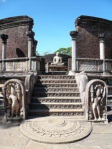 Entrance to Polonnaruwa Vatadage