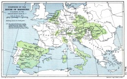 The green parts belonged to the Hapsburg Empire