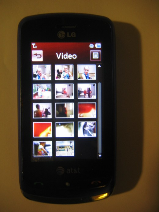 Selecting Video as an example