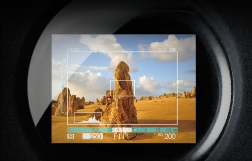 FinePix X100 (view finder optical and digital overlay)