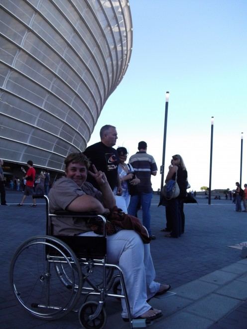 At Cape Town Stadium, ready to see U2
