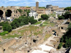 A view of the Roman Forum from Palatine Hill. Photo by HarshLight (flickr)
