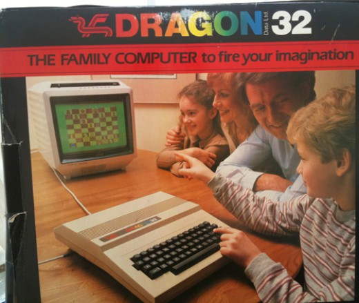 Check out the box art! The charm of the Dragon 32