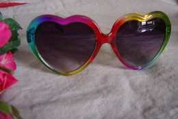 Heart shaped rainbow glasses
