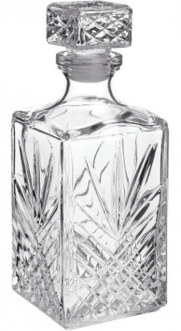 Star-Burst and Ray Design whiskey decanter with hob-nail too