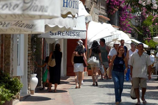 Capri, shopping