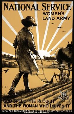 British Women's Land Army Poster
