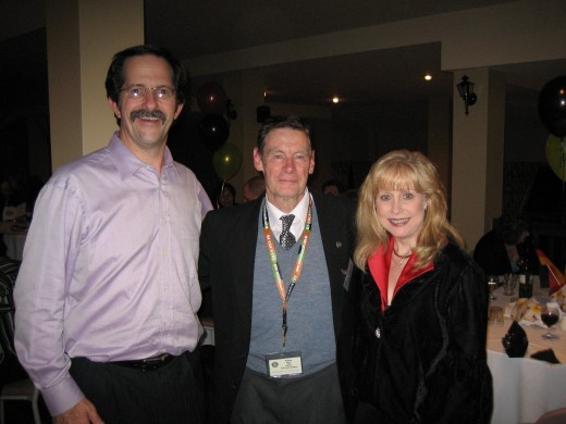 The Barnhill's either side of Tom at the Area 73 Toastmaster Convention in the Adelaide Hills, in 2008.   The Barnhills were both Presidents of TMI at one time or another.