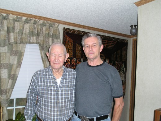 My 95 year young dad and myself.