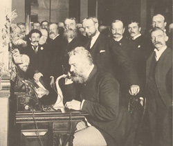 Alexander Graham Bell installed the 1st telephone in the White House. The 1st official call was between Bell and Hayes