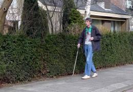 A blind man