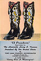 Cowboy boots. Ad for Tony Lama custom boots for President Harry S. Truman