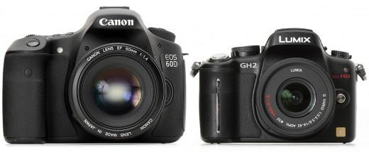 Canon EOS 60D (left) - Lumix DMC-GH2 (right)