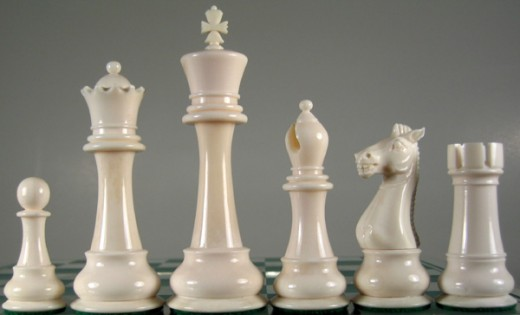 pawn, queen, king, bishop, knight, rook