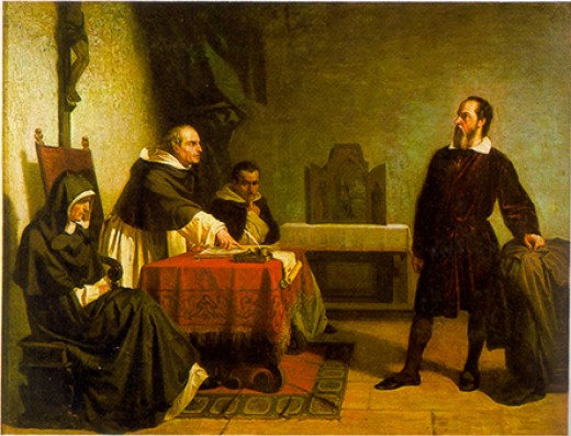 Galileo facing the Inquisition