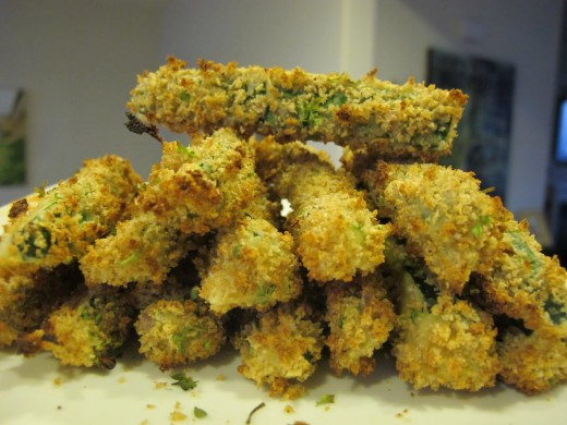 Deep fried zucchini sticks are so delicious with ranch dressing.
