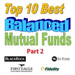 Top 10 best balanced funds logo
