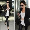 Victoria Beckham in pregnancy wears Christian Louboutin Pumps to go out!