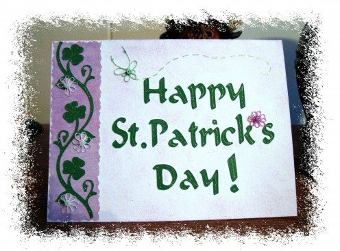 Tatted Flowers embellishments  and an Irish blessing inside create a card to remember.