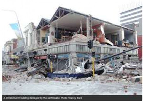 CHRIST CHURCH NEW ZEALAND NEARLY DESTROYED BY EARTHQUAKE