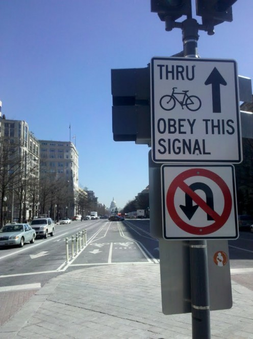 New bike lanes in the nation's capital make commuting by pedal power easier than ever. These lanes along Pennsylvania Avenue between the Capitol and the White House even have their own dedicated traffic signals.