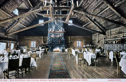 Old faithful Inn Frank Jay Haynes postcard