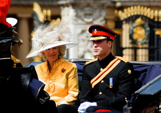 Prince William riding with the Duchess of Cornwall