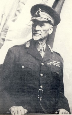 Field Marshall Smuts. Note baton in hands. Image Smuts House Museum.