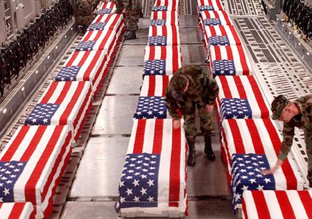 Can you imagine being these soldiers, seeing the coffins of their brothers and sisters in arms, wondering if they will be next to be draped in the flag?